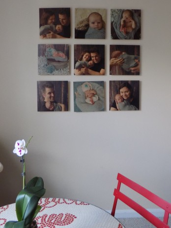 Unique Way to Display Newborn photos with feature wall
