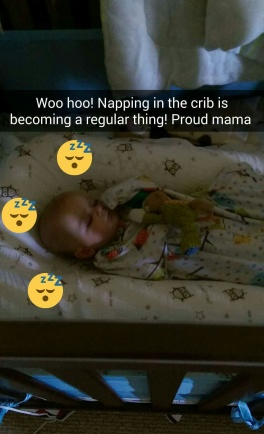 Aiden napping snapchat screenshot